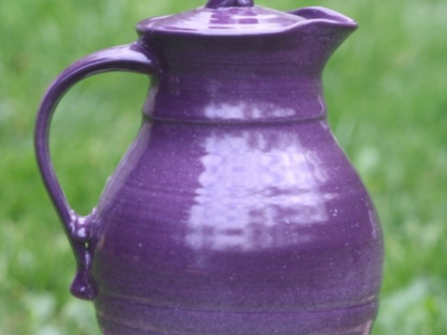 Pottery Pitcher with Lid