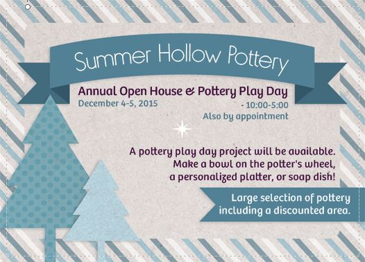 make a pottery tray: 2015 Open House & Pottery Play Day!