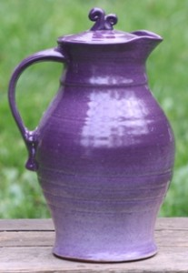 Purple Ceramic Pitcher