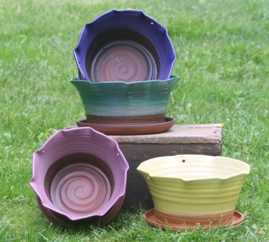 Handmade Ceramic Flower Pots
