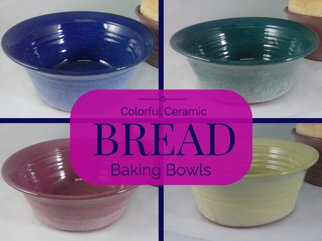 Colorful Ceramic Bread Baking Bowls