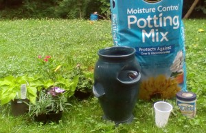 Materials for planting a strawberry pot