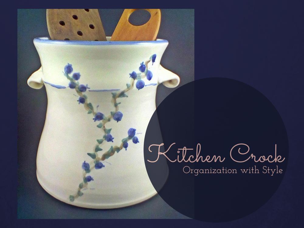 Handmade Pottery Kitchen Crock