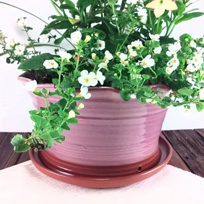 Extra Large Pink Ceramic Terracotta Flower Pot