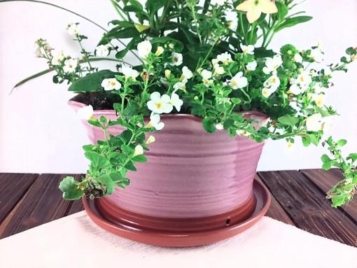 Extra Large Pink Ceramic Terracotta Flower Pot